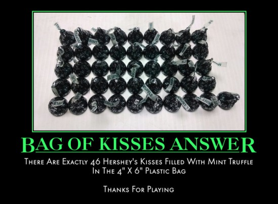 How Many Hersheys Kisses Answer