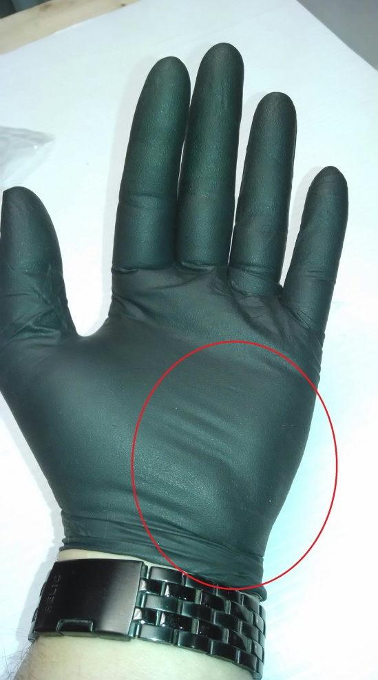 Nitrile Gloved Hand - Answer