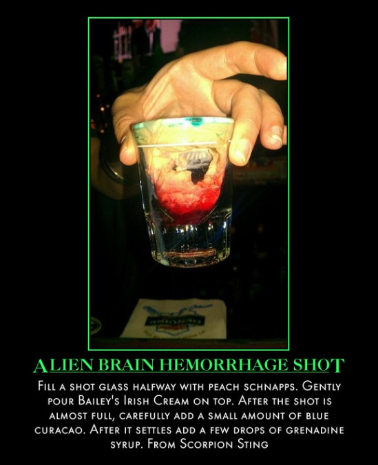 Alien Brain Hemorrhage Shot