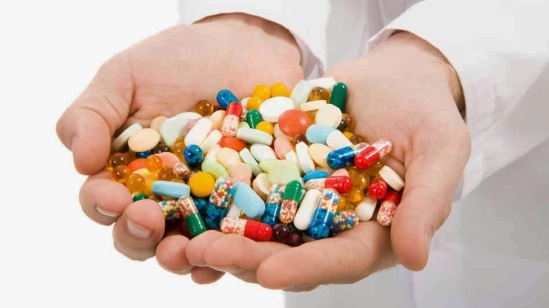 handful of medications